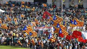 Una imagen de la manifestación de la Diada.