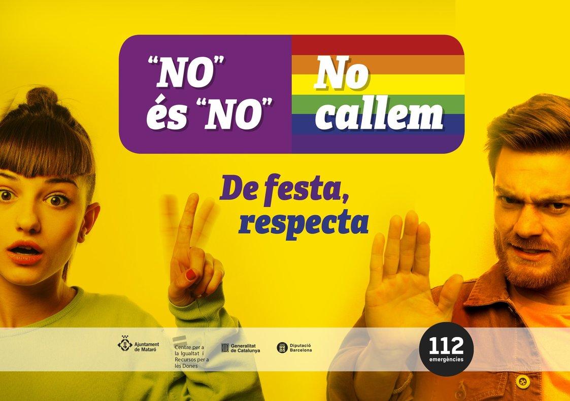 Cartel contra la violencia machista en Mataró.