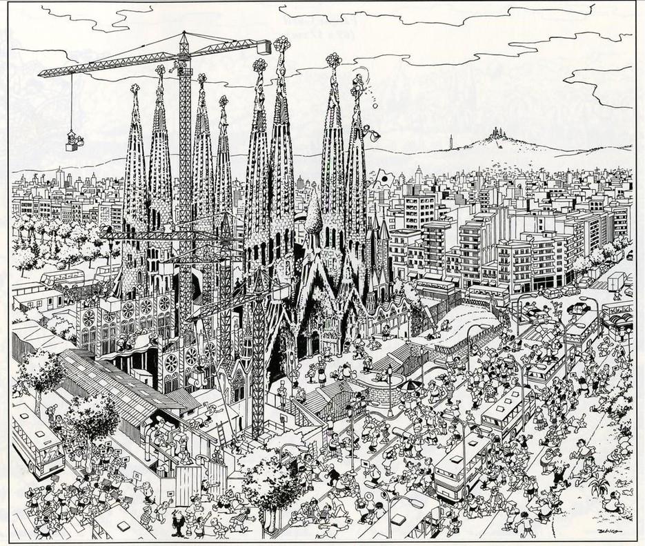 La Sagrada Família, en Barcelona, de Blanco.