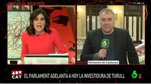 María Llapart conecta en directo con Antonio García Ferreras en su debut en Al rojo vivo