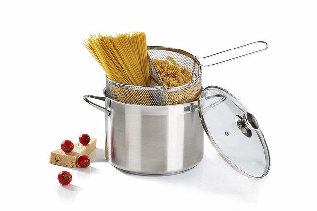 Olla para espaguetis con doble cesta