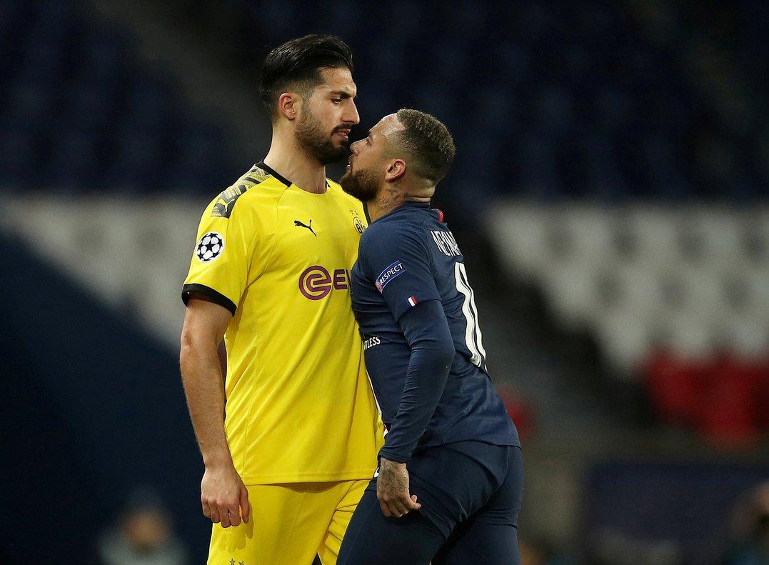 El jugador del Borussia Dortmund Emre Can (i) durante un partido ante el PSG.