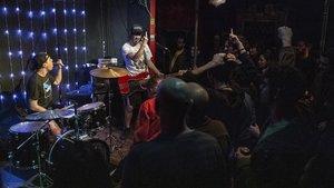 Actuación de Louis X Armstrong, en el local La Reina de África.