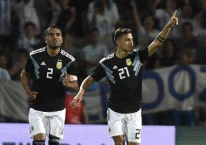 Dybala, autor del segundo gol de Argentina ante México.