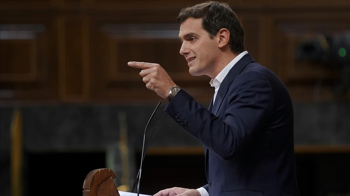 Rivera, durante el debate sobre presupuestos en el Congreso, hace dos semanas.