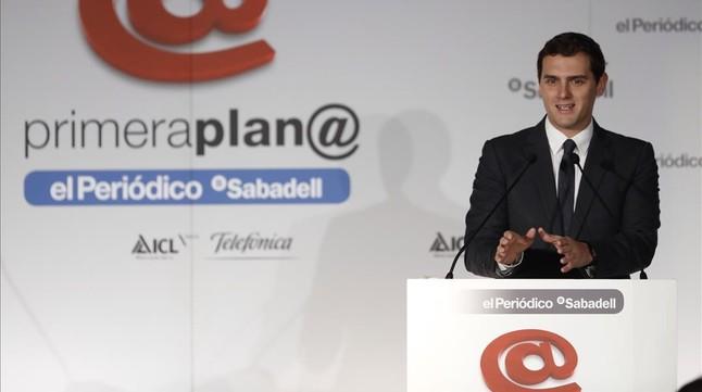 Albert Rivera, en el foro Primera Plan@