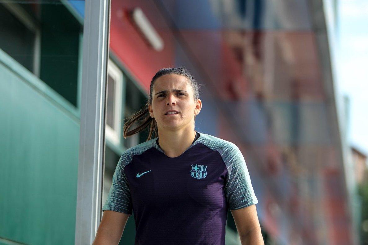 Andrea Pereira en las instalaciones de la Ciutat Esportiva Joan Gamper