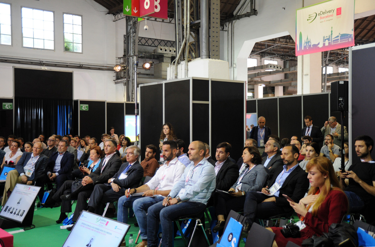 Asistentes al e-delivery Barcelona Expo Congress