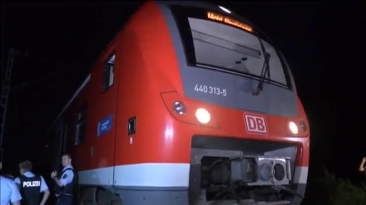 Un joven con un hacha ha herido a cuatro personas en un tren regional en Alemania.