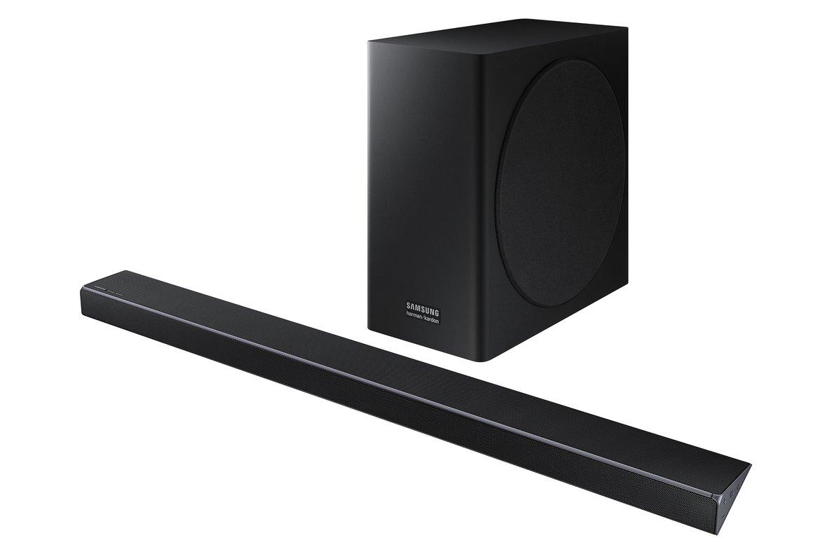 Barra de sonido para televisor, de Samsung.