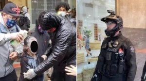 VÍDEO | Una nena ruixada amb gas pebre en les protestes per la mort de Floyd