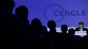 Carles Puigdemont, en la reunión del Cercle dEconomia.
