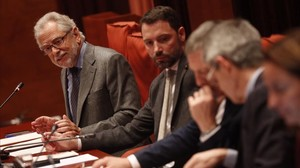 Carles Viver Pi-Sunyer comparece en el Parlament, este miércoles.
