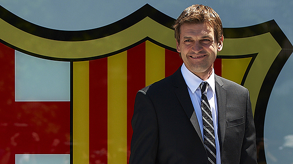 15.6.2012. Es un orgullo, me siento con fuerza e ilusión. Con estas palabras Tito comenzó su primera rueda de prensa como entrenador del Barça.