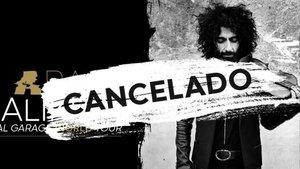 Cartel del concierto cancelado del violinista.