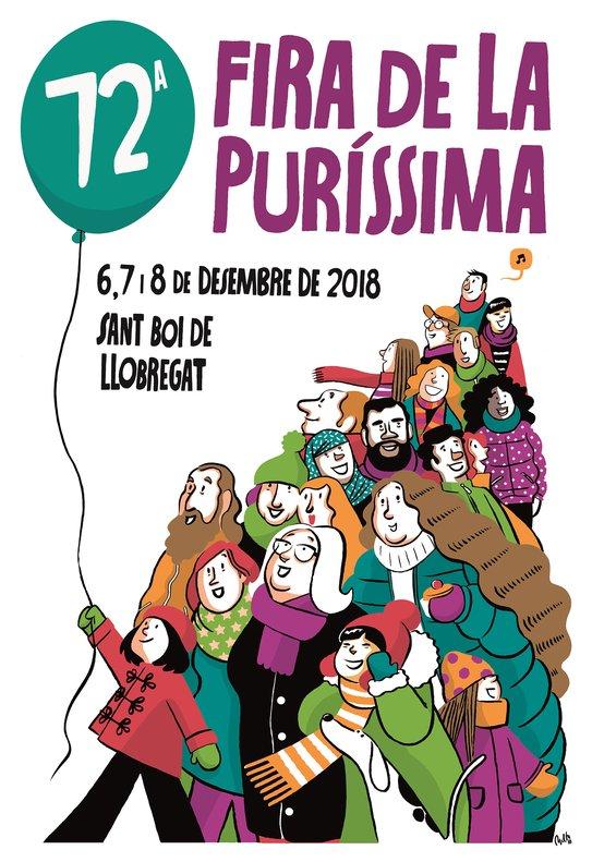 Cartel de la Feria de la Purísima 2018 de Sant Boi