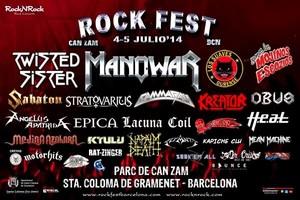 Cartel promocional de la primera edición del Rock Fest en Santa Coloma.