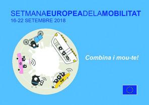 Cartel de la La Semana de la Movilidad en Santa Coloma de Gramenet.