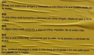 """El cartell per """"evitar violacions"""" que posa el focus en els homes i triomfa a les xarxes"""