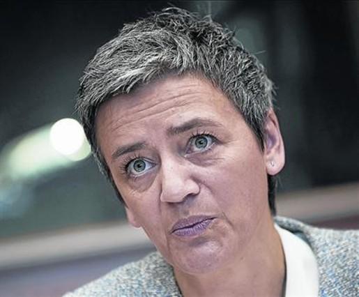 La comisaria responsable de Competencia, Margrethe Vestager.