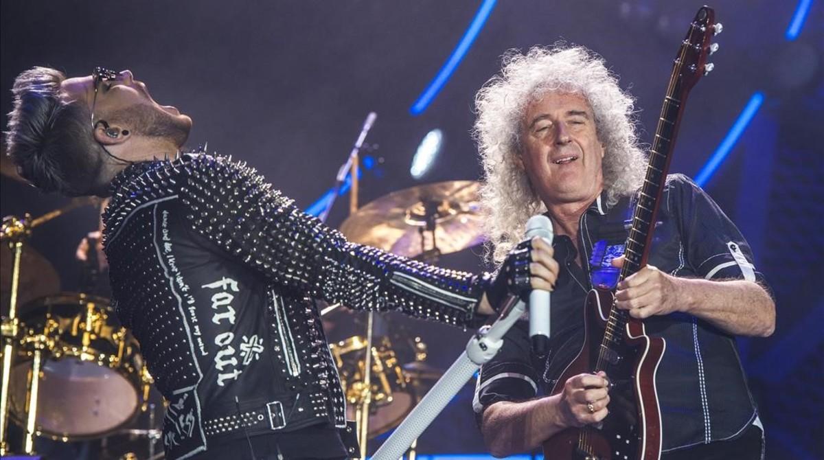 Concierto de QUEEN en el Palau Sant Jordi con Adam Lambert y Brian May.
