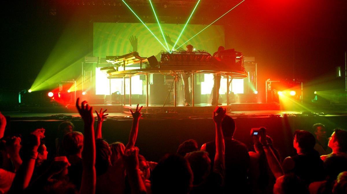 Concierto de Chemical Brothers en el Sónar del 2005.