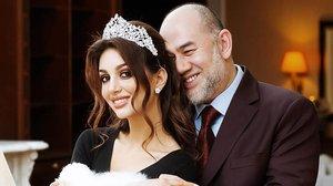 El rey Mohamed V y su exmujer, la modelo rusa Rihana Oksana Voevodina.