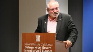 El 'exconseller' Lluís Puig, en la Delegación del Govern en Bruselas.
