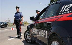 Control policial en Italia.