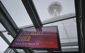 Un lugar en Seattle cerrado por el coronavirus.