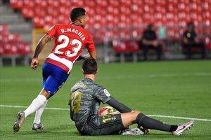 Darwin Machís celebrando un gol ante el Real Madrid