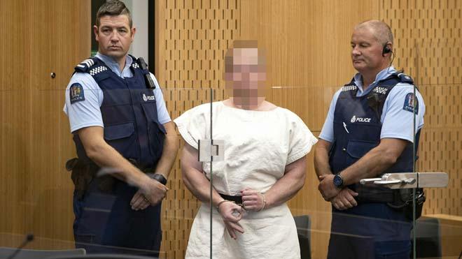 El detenido por los ataques en Nueva Zelanda comparece ante un tribunal.