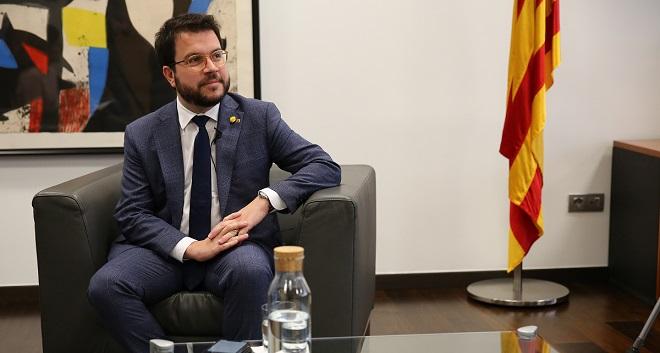 Entrevista con Pere Aragonès, vicepresidente de la Generalitat