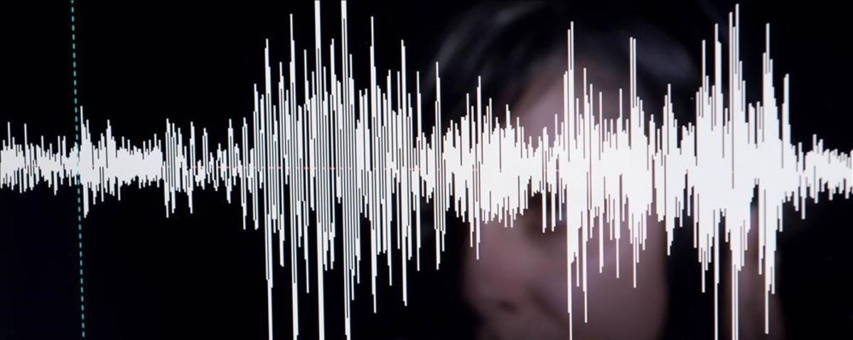Estudio de una voz humana en un laboratorio de fonetica.