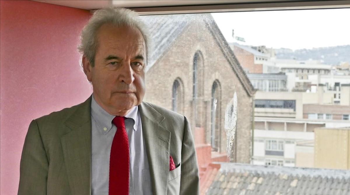 El escritor irlandés John Banville, en el CCCB.