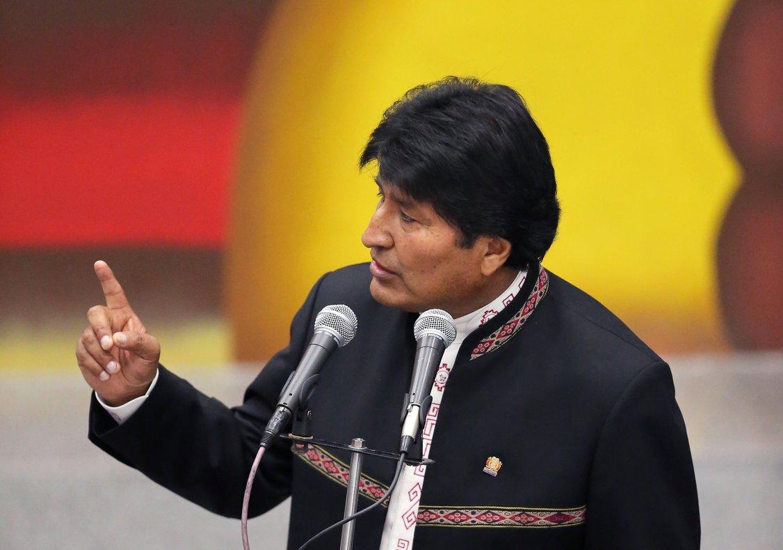 Evo Morales en un discurso en La Casa Grande del Pueblo en La PazBolivia REUTERS David Mercado