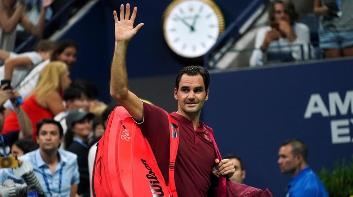 Federer se despide de los aficionados al caer eliminado en el Open USA.