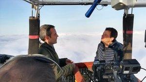 El hombre del tiempo de TV-3 Francesc Mauri, en 'Globus sonda'.