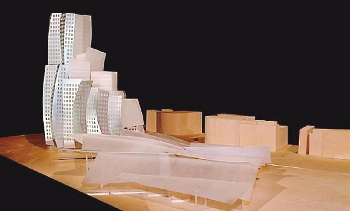 Maqueta del edificio de Frank Gehry para la estación de la Sagrera.
