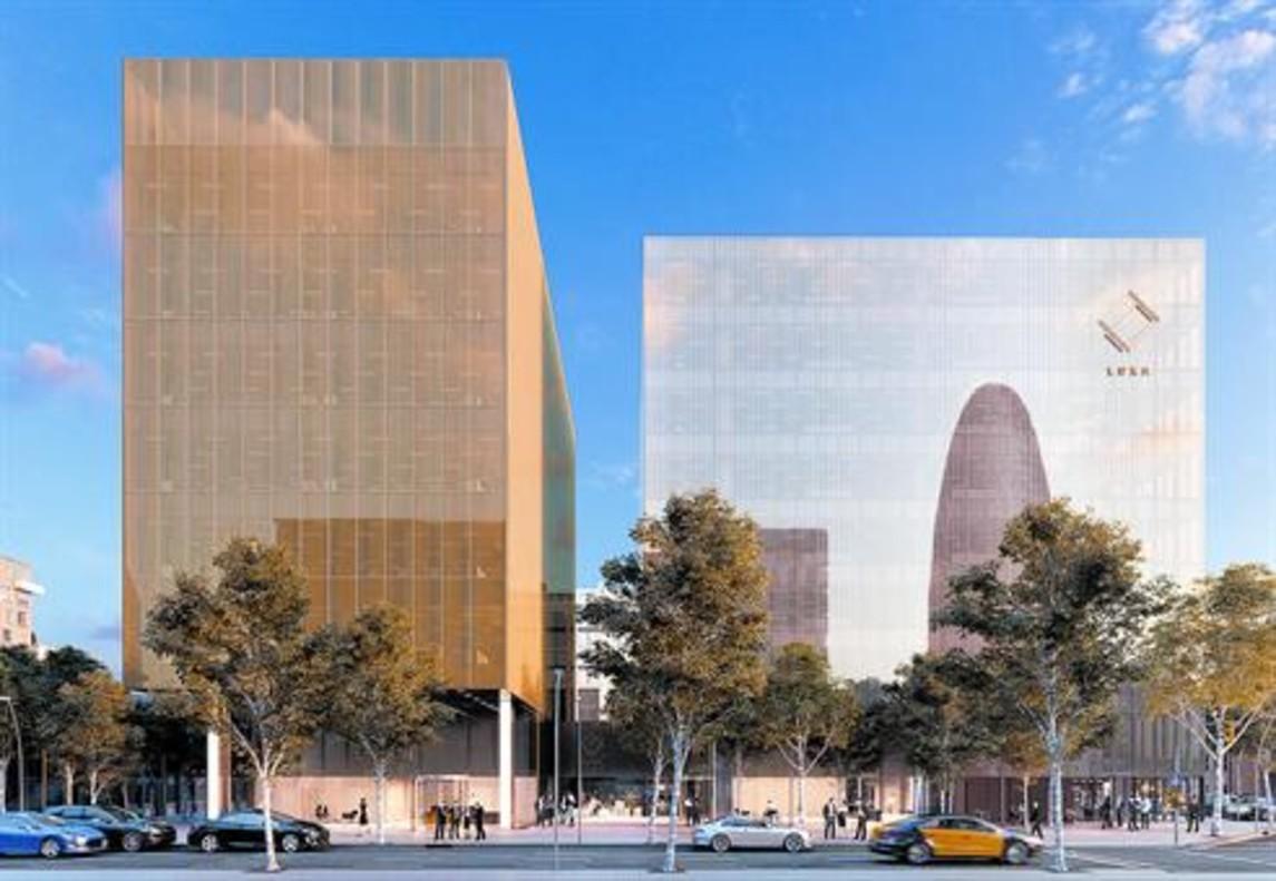 Imagen virtual del complejo Luxa, en la confluencia de las calles de Badajoz y Tànger, que tendrá a Amazon entre sus inquilinos.