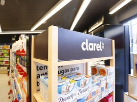 Interior de una tienda Clarel del grupo Dia.