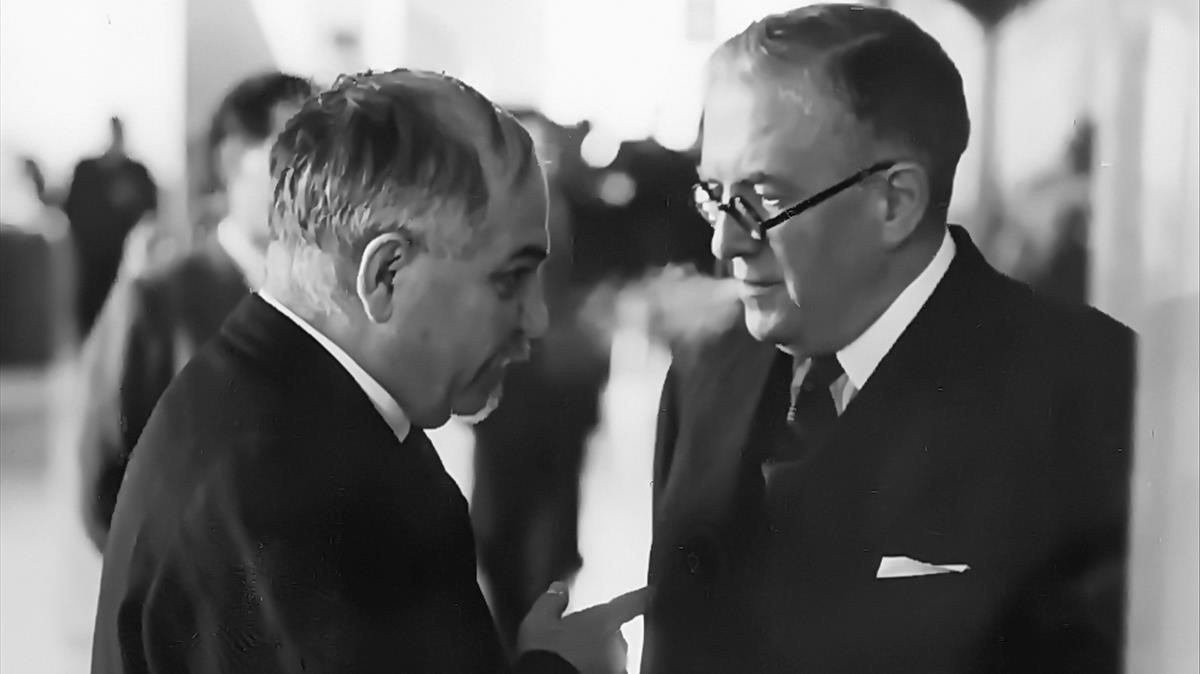 Iván Maiski, con el ministro de Estado español Julio Álvarez del Vayo.