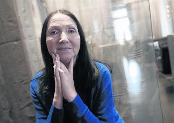 Jane Hawking, amb la dolçor de la seva joventut intacta, dimarts, a Madrid.