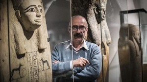 Martínez Babón, en el Museu Egipci.