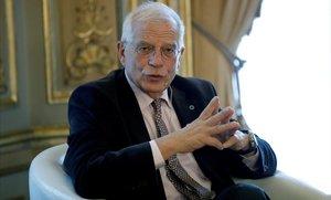 Josep Borrellinterviene en la conferencia del cofundador del centro de estudios y analisis Iniciativa Europea de EstabilidadGerald Knaus