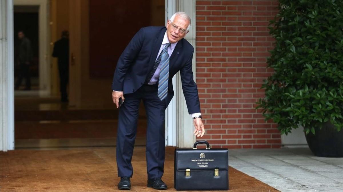 Josep Borrell, el pasado viernes en la Moncloa.