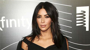 Kim Kardashian en la alfombra roja de unos premios en Nueva York.