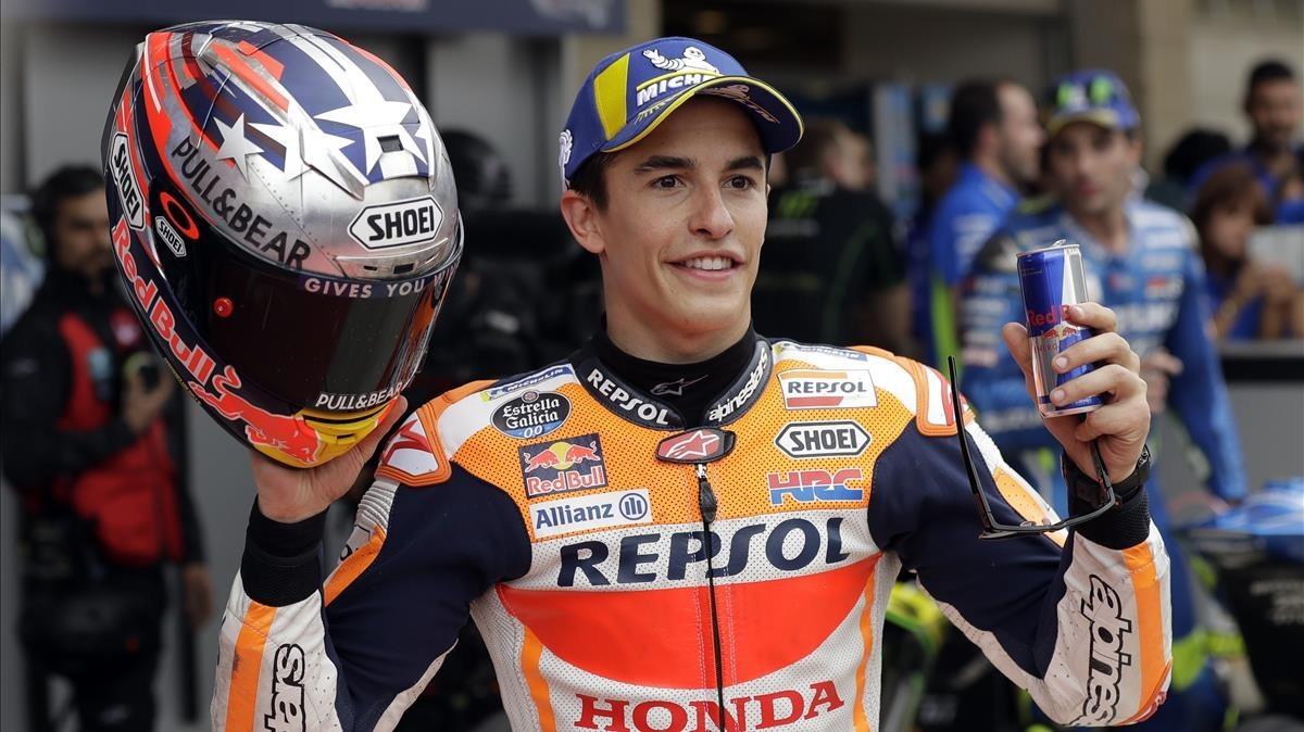 Marc Márquez, pletórica versión del capitán América sobre la MotoGP.