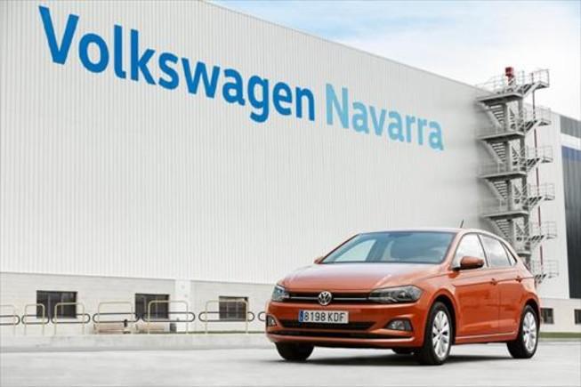 Planta de Volkswagen en el polígono de Landaben, de Pamplona.