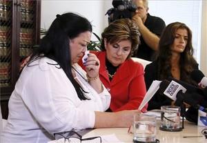 Las tres mujeres que acusan a Bill Cosby de abusos sexuales.